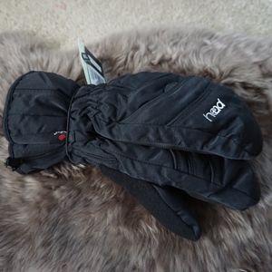 NWTs Black Ski Mitts Waterproof Gloves Jr Size XL
